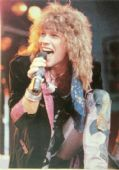 Bon Jovi - 'Jon Singing' Postcard